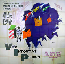 VERY IMPORTANT PERSON 1961 James Robertson Justice Leslie Phillips UK POSTER