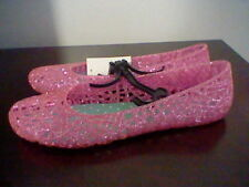 BRAND NEW GIRLS SIZE 3 WALMART BRAND JELLY STYLE CASUAL FLATS (YOUTH SIZE)