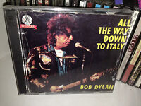 BOB DYLAN ALL THE WAY DOWN TO ITALY RARE DOUBLE CD LIVE MILAN ROME