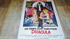 LES TEMPS SONT DURS POUR DRACULA ! affiche cinema 1974