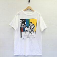 Vintage Distressed 1993-94 Eros Ramazotti World Tour T-Shirt Size XL White 90s
