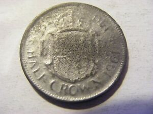 A 1961 Elizabeth II  Half Crown Coin ok Condition - 32mm - Not a Real Coin