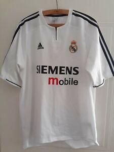 Real Madrid Football Shirt 2003 2004 Home Retro Adidas Camiseta Soccer Original