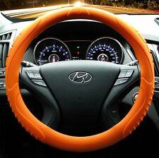 MASADA Premium Silicone Car Steering Wheel Cover (Orange) - One size fits all