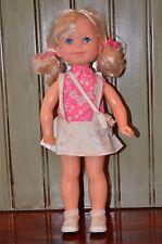 "Vintage 1970 Mattel 14"" Shoppin Sheryl Doll Original Outfit Purse Shoes Shopping"