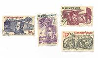 Czechoslovakia postage stamps Space Exploration 1964 x 4