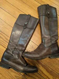 FRYE Size 9, M Womens Jayden button tall Leather Riding Boots
