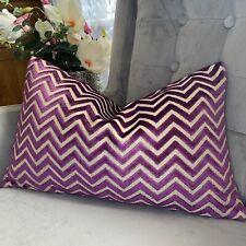 "Prisma Cushion Cover 12""x20"" Designer Clarke&Clarke Fabric ,Purple Velvet"