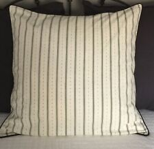 NOBLE EXCELLENCE  2 EURO SHAMS Black And Cream W/Black Piping Edges Beautiful!