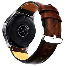 New Samsung Galaxy Watch 46mm Band 22mm Luxury Genuine Leather Ticwatch Gear S3