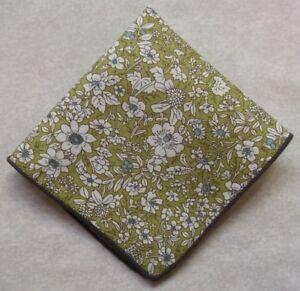 Handkerchief MENS Hankie NEW Top Pocket Square GREEN FLOWERS FLORAL