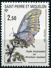 SAINT PIERRE ET MIQUELON N°534** Papillon, 1990 SPM Butterfly MNH