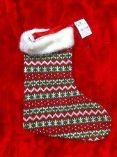 XL-Nikolaus-Socke Weihnachts-Socke Stiefel zum Befüllen NORWEGER-MUSTER R8-17-5