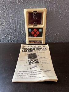 VINTAGE 1978 MATTEL ELECTRONIC BASKETBALL HANDHELD GAME TESTED WORKING!!
