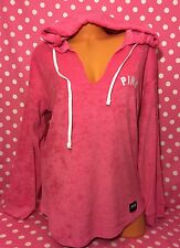 Victoria's Secret Pink French Terry Pullover Pink Hoodie Sweater Medium NWT