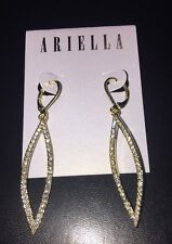 Earrings In Gold New $65 Nordstroms Ariella Collection Pave Crystal