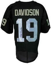 Cotton Davidson Autographed Custom Pro Style Black Jersey JSA Authenticated