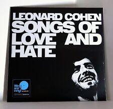 LEONARD COHEN Songs Of Love And Hate 180-gram VINYL LP Sealed
