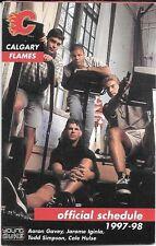 1997-98 NHL SCHEDULE - CALGARY FLAMES