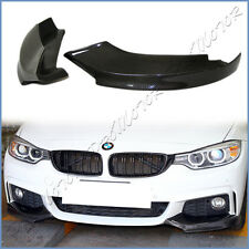 TMS Look Carbon Fiber Splitter Lip For 14On F32 F33 F36 435i 428i M Sport Bumper