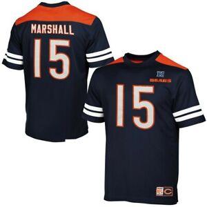 New! Chicago Bears Brandon Marshall #15 Majestic Navy Blue Shirt Jersey Large