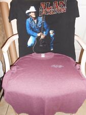 ~ Alan Jackson ~ Lot of 2 Beautiful Shirts Tshirts t-shirts Sz Xl Extra Large