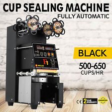 Electric Fully-automatic Bubble Tea Cup Sealer Sealing Machine 500-650 Cups/Hr!