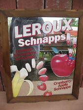 Leroux Schnapps Bar Sign Mirror