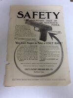 1913 MAGAZINE AD #A3-023 - Colt Firearms Automatic Grip Safety