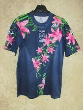 Maillot rugby Stade Français PARIS 2007 ADIDAS vintage away shirt fleur rose M