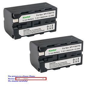Kastar Battery F770 for Sony NP-F770 NP-F750 NP-F730 NP-F975 NP-F970 NPF960 F950