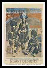 "Framed Vintage Style Rock n Roll Poster ""GREATFUL DEAD ""; 12x18"