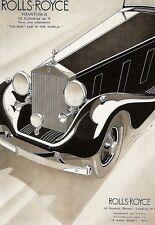 Art Poster Rolls Royce Phantom III Deco  Print