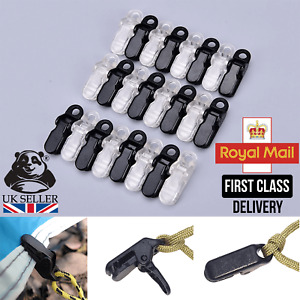 12pcs Awning Clamp Tarp Clips Snap Hangers Tent Camping Survival Tighten Tool UK