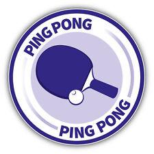 Ping Pong Emblem Car Bumper Sticker Decal 5'' x 5''