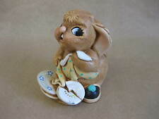 PenDelfin Butterfingers Figure ~ Hand Painted Stonecraft  ~Reg.Des.No.2014557