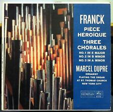 Marcel Dupre - Franck Piece Heroique & Three Chorales LP VG+ MG 50168 Mercury