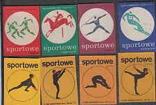Série   étiquettes  allumettes   Pologne  V118 Sport Ski Cheval Gymnastique