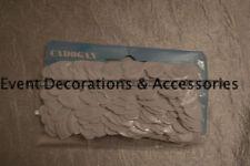 Blanco Metálico Corazón Decoración De Mesa Confeti DE BODA GB