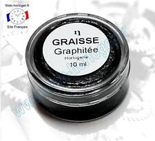 Graisse graphitée pour horloge, pendule 10 ml - Graphite grease for clock