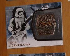 Topps STAR WARS Force Awakens Serie 2 Card MEDALLION Stormtrooper /245 Carte