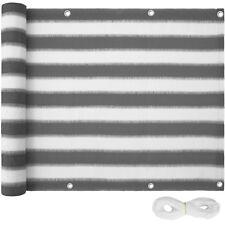 Brise vue pour balcon protection visuelle solaire pare-vent 500x90cm gris-blanc