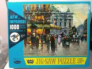 Crown by Whitman 1000 pc Jigsaw Puzzle-Cafe De La Paix-#4710-series 711