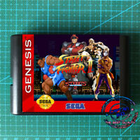 Street Fighter 2 in Streets of Rage M.Bison Edition For SEGA GENESIS MegaDrive