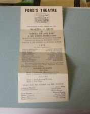 1946 Ford's Theatre Apple of His Eye Handbill Walter Huston Baltimore Maryland