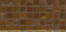 50pcs NP23 Transparent Gold Natura Pearl Glass Mosaic Tiles 15x15x4mm Iridescent