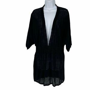 Victoria's Secret Deep V-Neck Knit Swim CoverUp Size M/L