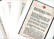 RARE WW2 Australian Red Cross Report POW NAZI GERMAN Stalag PRISON CAMPS 7pg