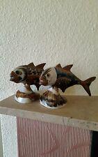 Zwei Fische aus Keramik.Mexiko.Signiert.zirka: 11.5 cm.hoch.