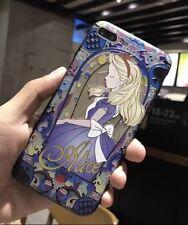 NEW iPhone X Disney Alice in Wonderland Stain Glass Effect Hard Phone Case